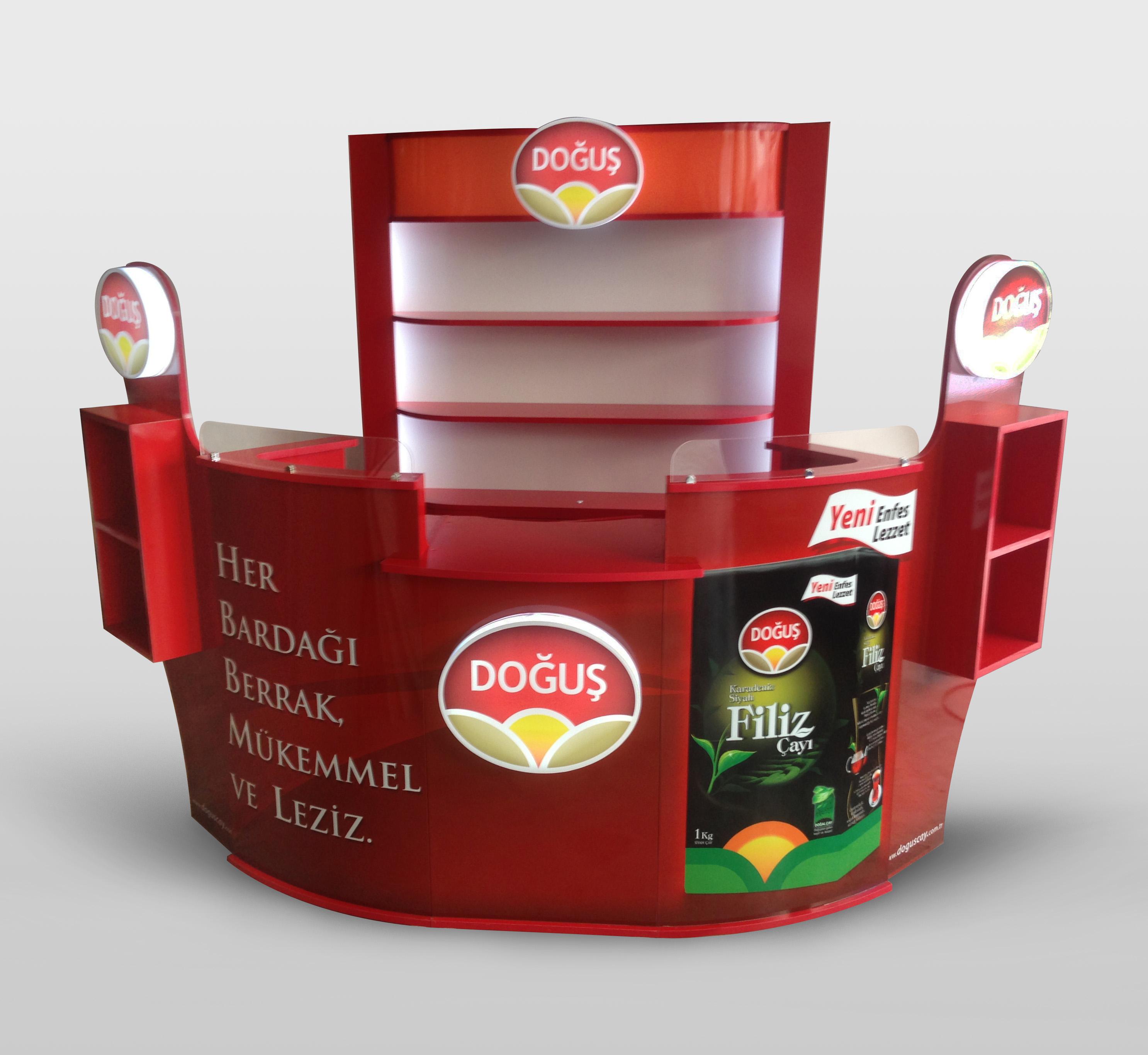 DOGUS ÇAY Reklam Standi Nitro Tasarim tarafindan Üretildi.
