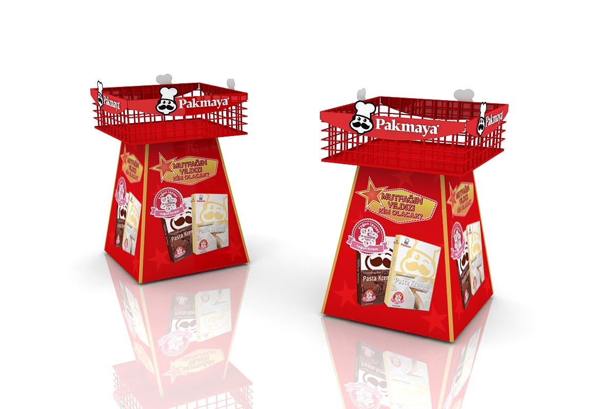 PAKMAYA Ürün Standı Nitro Tasarım Tarafından Üretildi.